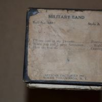 Artizan Factories Inc., Military Band Organ music roll label (c1925).jpg