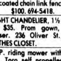 The Clothes Closet, 236 Oliver, classified ad (Tonawanda News, 1981-04-29).jpg