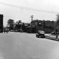 Oliver Street showing Robinson intersection, Avondale, looking south, photo (1947).jpg