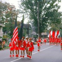 Colorful red standard-bearers, parade, photo (1972).jpg