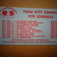 Twin City Geminis, football game schedule (1978).jpg