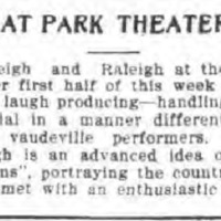 At Park Theater, article (Tonawanda News, 1910).png