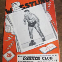 Corner Club wrestling, program (1949).jpg