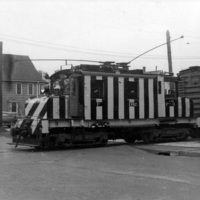 IRC train at the Junction, Lockport Freight Line, Sommer St at left, North Tonawanda 2 (1947-07).jpg