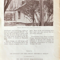 A History of the City of Tonawanda, booklet excerpts (BECHS, 1971) back.jpg