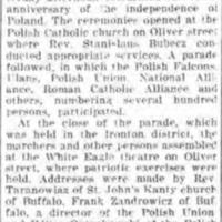 Poles celebrate Independence Day, article (Tonawanda News, 1917-05-14).jpg