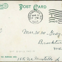 On Ellicott Creek, postcard back (1907-03-05).jpg