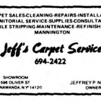 Jeffs Carpet Service, 596 Oliver, ad (Tonawanda News 1986).jpg