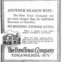 First Trust Company, advertisement (Tonawanda News, 1917-04-02).jpg