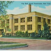 City Hall, illustrated postcard (c1940).jpg
