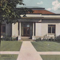 Public Library, North Tonawanda, postcard (1908).jpg