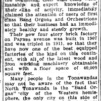 Tonawandas Are Band Organ Center of the Americas, article (Tonawanda News, 1912).jpg