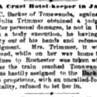 A cruel hotel-keeper in jail, article (Buffalo News, 1887-09-02).jpg