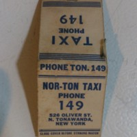 Nor-Ton Taxi, 526 Oliver, matchbook (c1940).jpg