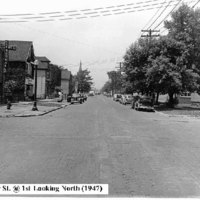 Oliver Street at 1st Ave looking north, photo (1947).jpg