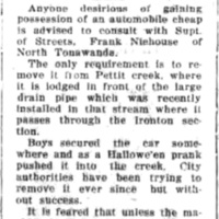 Heres a chance to get an auto cheap, Pettit Creek, article (Ton News, 1925-11-24).jpg