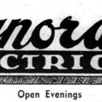 Synoracki Electric, 479 Oliver, ad logotype (Tonawanda News, 1950).png