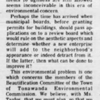 Letter to editor agreees that Willy the Whale is an eyesore (Tonawanda Evening News, 1973-01-18).jpg
