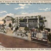 Niagara Silk Mills Exhibit, illustrated postcard (1915).jpg