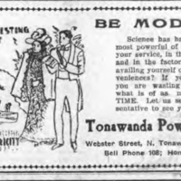 Tonawanda Power Co., ad (Tonawanda Evening News, 1908-10-07).jpg