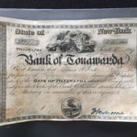 Bank of Tonawanda, capital stock certificate (1839).jpg