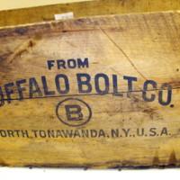 Buffalo Bolt Company, logotype on wood box2.JPG
