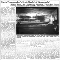Scale model of Normandie rides seas, photo article (Tonawanda News, 1938-02-07).jpg