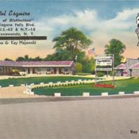 Motel Esquire, 4390 Niagara Falls Blvd, postcard (c1950).jpg