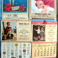 Thiele, Rojeks Dairy, Whitco Fuel, calendars (1950s and 1960s).jpg