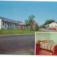 Stevensons Motel, 1220 Niagara Falls Blvd, photo postcard (c1960).jpg