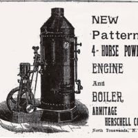 4-horse power engine and boiler, Armitage Herschell, ad (Tonawanda News, 1894.jpg