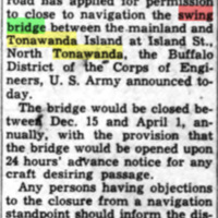 NYCRR Aske Permission to Close Island Span, Open It on Request, article (Tonawanda News, 1950-06-28).jpg