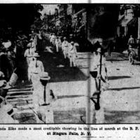 Elks Lodge 860 make creditable showing in Niagara Falls parade, photo (Buffalo Courier, 1914-06-21).jpg