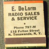 DeLorm Radio Service, 115 Felton, matchbook (c1955).jpg