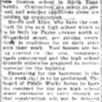 New HS Job to Start Soon, Gilmore and Wurlitzer, Too, article (Tonawanda News, 1925-03-11).jpg