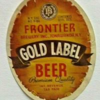 Frontier Gold Label Beer, label.jpg