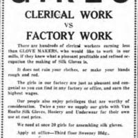 Girls wanted for Van Raalte Company, ad (Tonawanda News, 1920-04-19).jpg