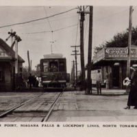 Junction Point, Niagara Falls and Lockport railroad lines, Payne Avenue, postcard (c1910).jpg