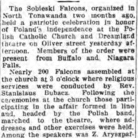 Sobieski Falcons hold celebration, Polish band marches to Dreamland, article (1915-01-11).jpg