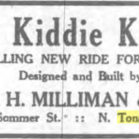 Kiddie Klatter, ride by George Milliman, ad (Tonawanda News, 1928-11-07).jpg