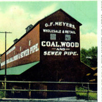 G F Meyers Coal, Wood and Sewer pipe, postcard (c. 1910).jpg