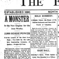 A Monster - New Engine for Iron Works, article (Tonawanda News, 1896-06-29).jpg