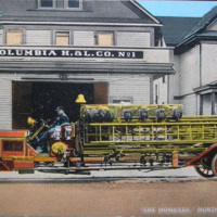 Columbia Hook and Ladder, The Homeyer, North Tonawanda, illustrated postcard (c1916).jpg