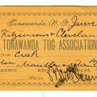 Tonawanda Tug Association Dr., towing receipt (1892).jpg