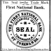 Seal of 1st National Bank of Tonawanda, illustration (Tonawanda News, 1900-05-11) .jpg