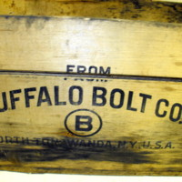 Buffalo Bolt Company, logotype on wood box.JPG