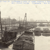 north side of canal looking east from the Main Street Bridge in Tonawanda, photo (NYSA, 1909-03-09).jpg