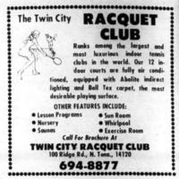 Twin City Racquet Club, ad (Tonawanda News. 1974-09-07).jpg