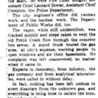 Teamwork in the crisis, exploding cellars from gas in Pettit flume, article (Tonawanda News, 1949-11-28).jpg