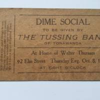 Dime Social with Tussing Band, 92 Elm, invitation (1914-10-08).jpg